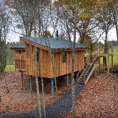 New treehouses at Lanrick, Perthshire, Scotland